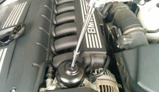 BMW Z4のオイル交換をしてみたよ!オイルの下抜きに初挑戦!