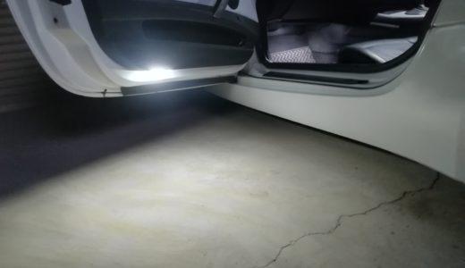ドアを開けたらピカッと光る!LEDドアカーテシーライトを取り付けてみた~配線編~【BMW Z4】