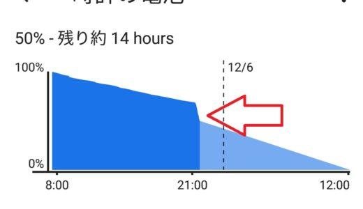 丸2日は大丈夫!スマートウォッチの電池は意外と持つよ!【Wear OS by Google】